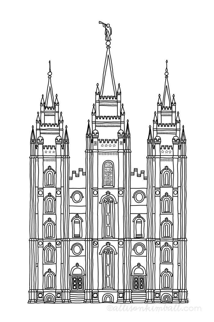 Salt Lake coloring #8, Download drawings