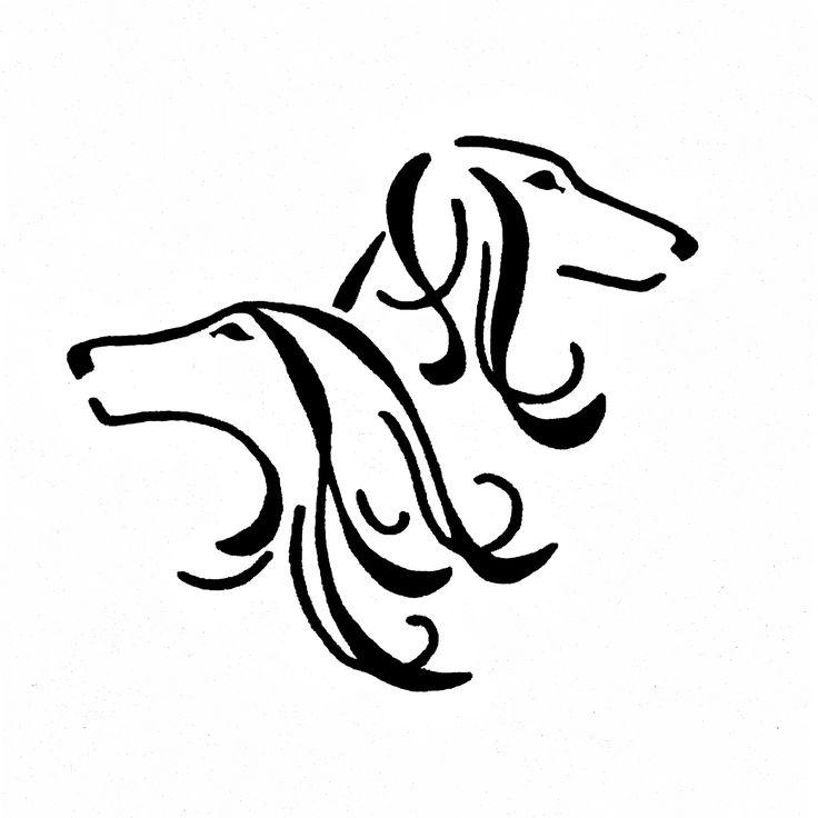 Saluki svg #2, Download drawings