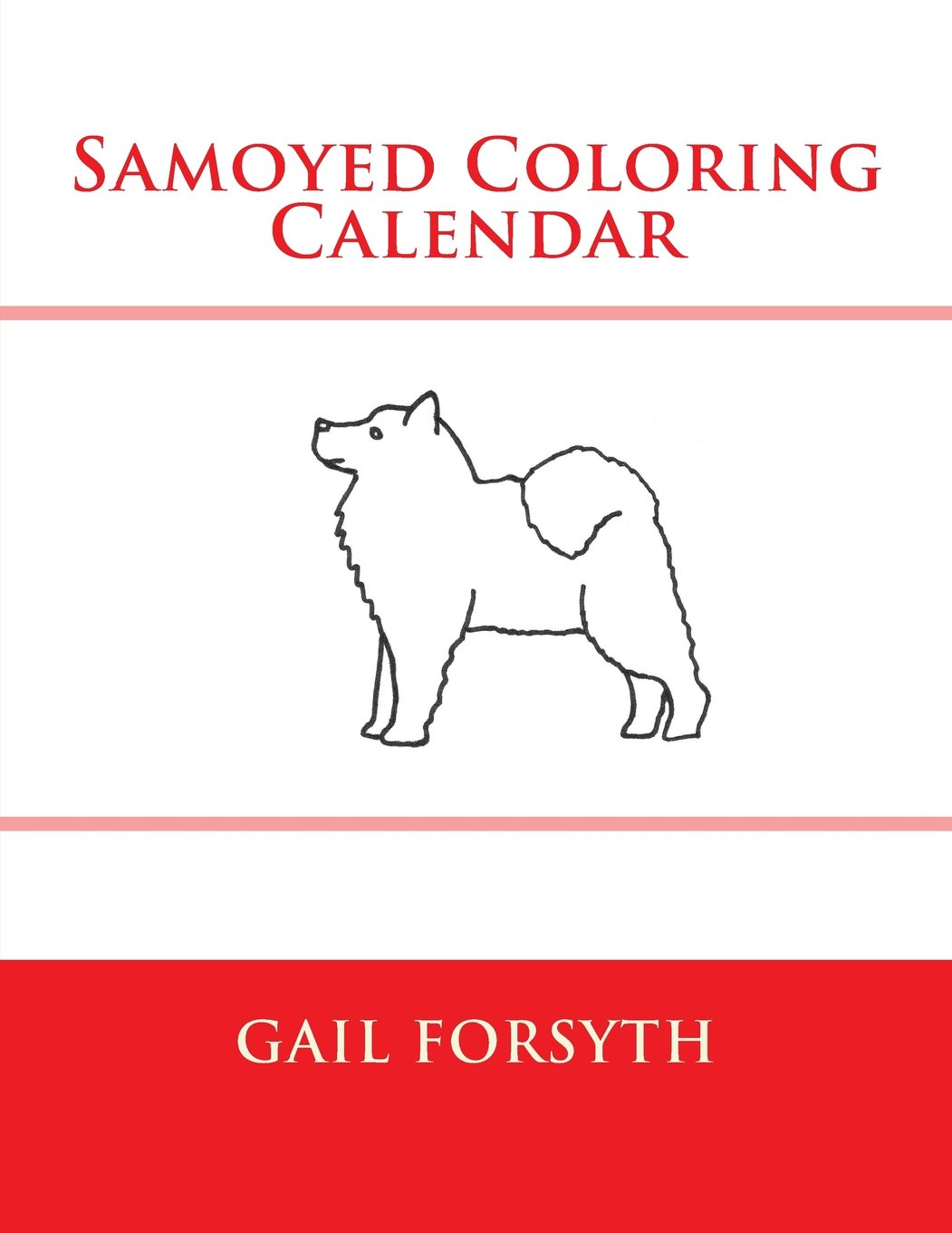 Samoyed coloring #17, Download drawings