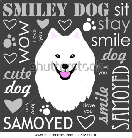 Samoyed svg #11, Download drawings