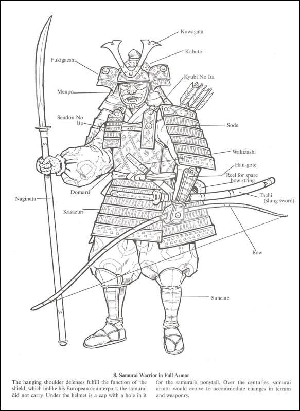 Samuray coloring #11, Download drawings