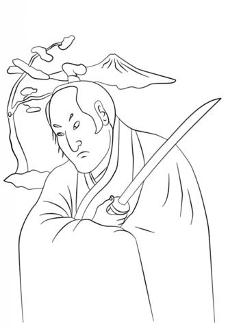 Samurai coloring #11, Download drawings