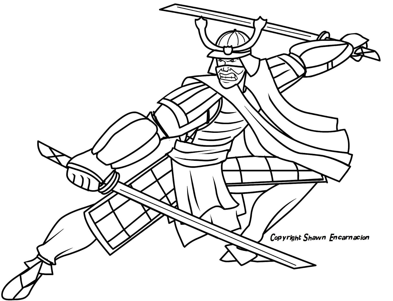 Samurai coloring #8, Download drawings