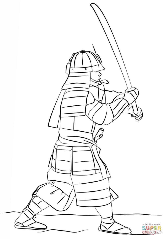 Samurai coloring #3, Download drawings