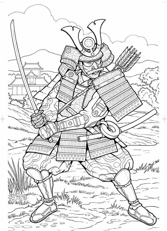 Samuray coloring #18, Download drawings