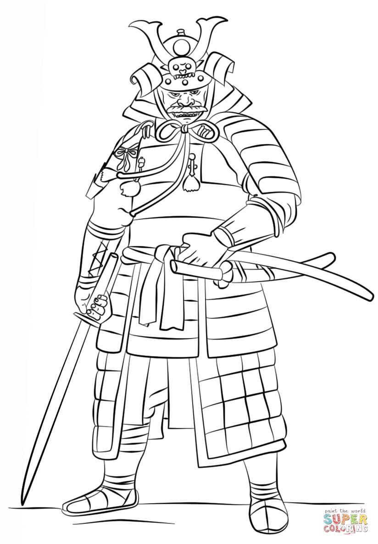 Samurai coloring #5, Download drawings