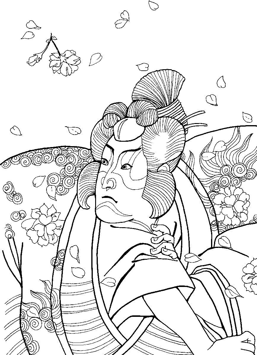 Samurai coloring #1, Download drawings