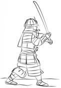 Samurai Warrior coloring #1, Download drawings