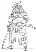 Samurai Warrior coloring #12, Download drawings
