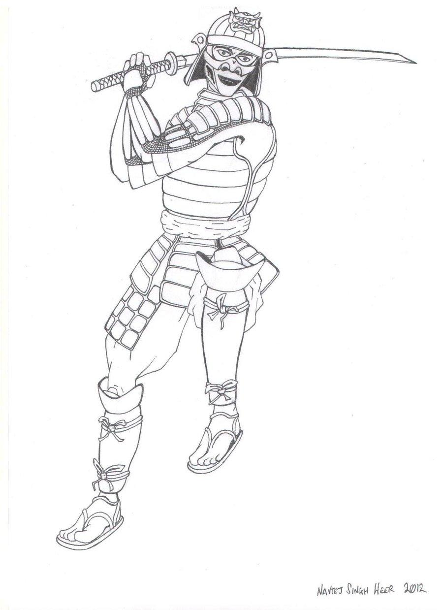 Samurai Warrior coloring #10, Download drawings
