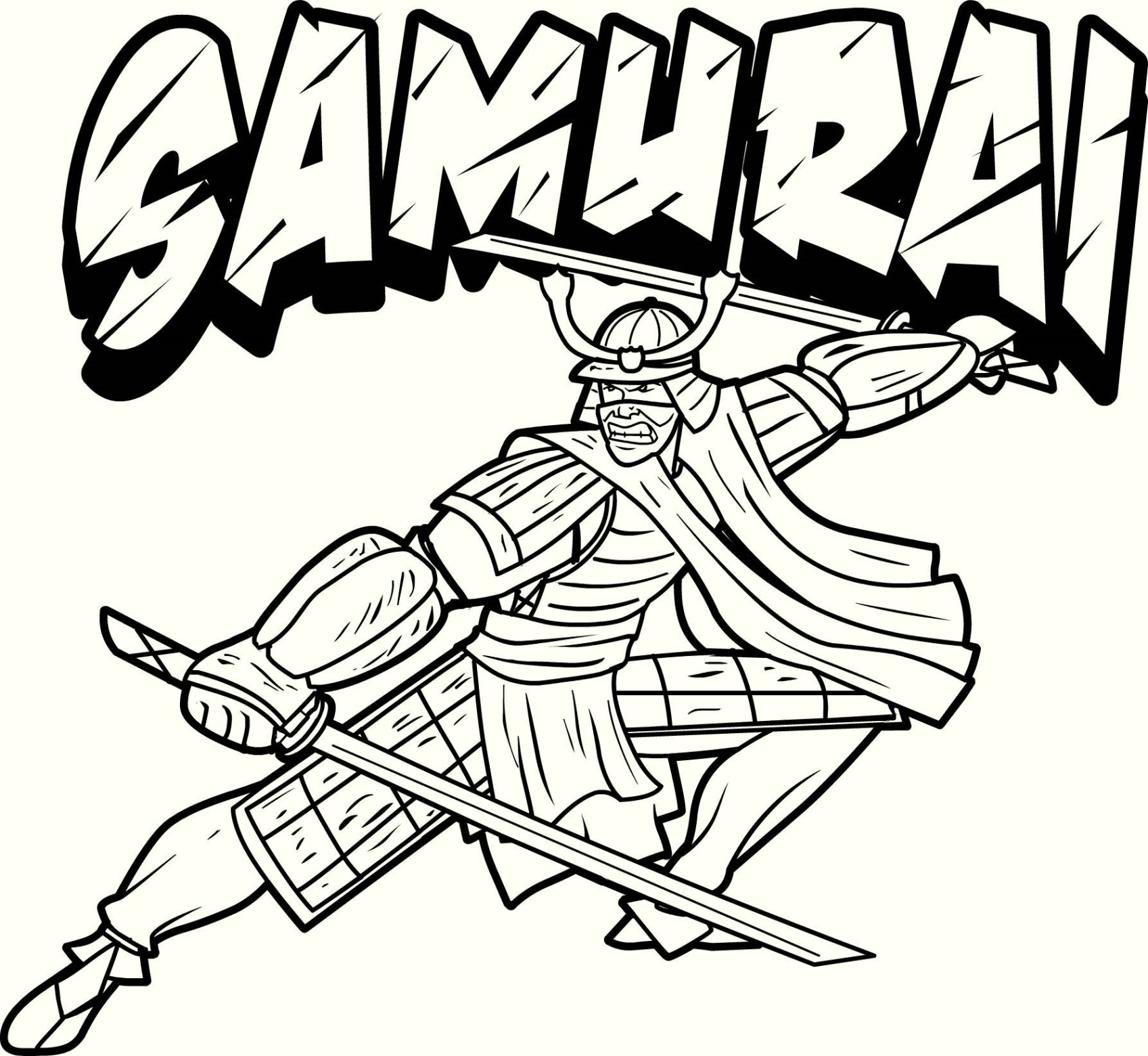 Samuray coloring #1, Download drawings