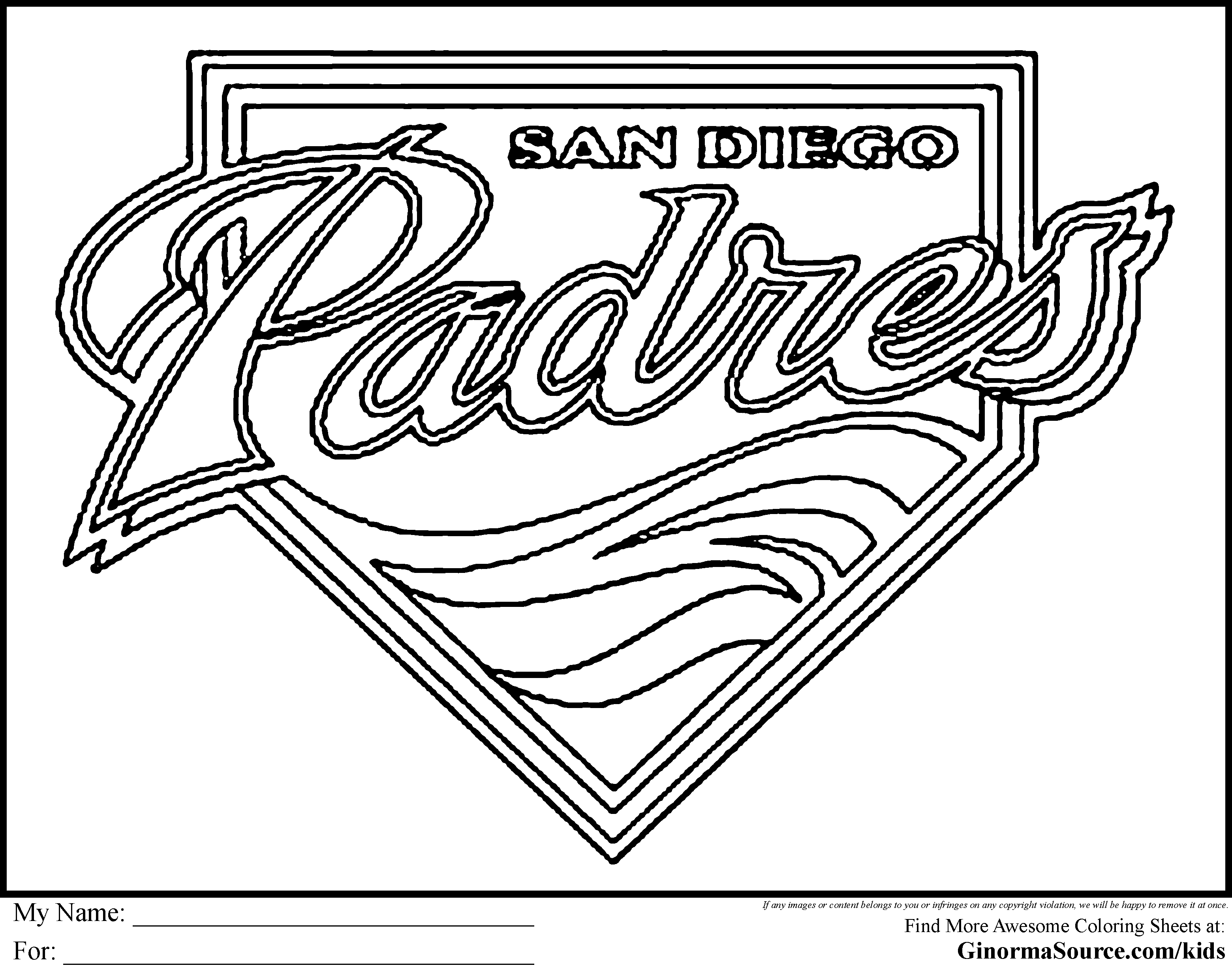 San Diego coloring #3, Download drawings