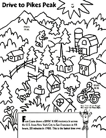 San Francisco Peaks coloring #7, Download drawings
