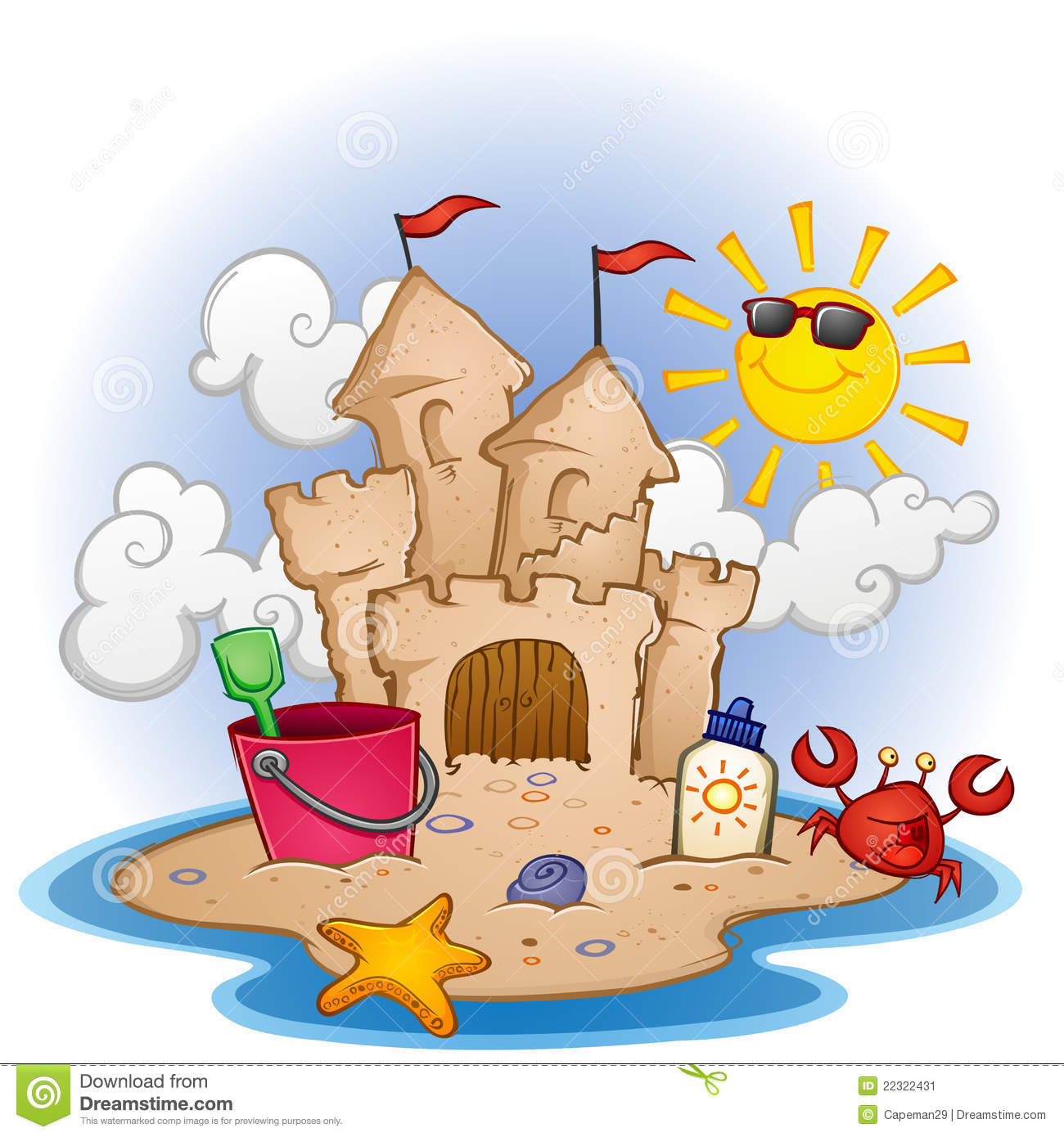 Sandcastle clipart #16, Download drawings