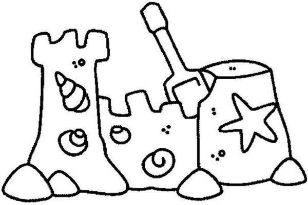 Sandcastle coloring #5, Download drawings
