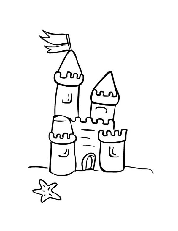 Sandcastle coloring #9, Download drawings