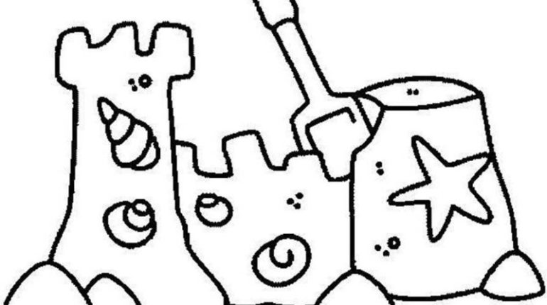Sand Castle coloring #7, Download drawings