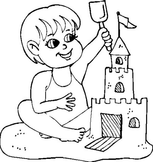 Sandcastle coloring #4, Download drawings