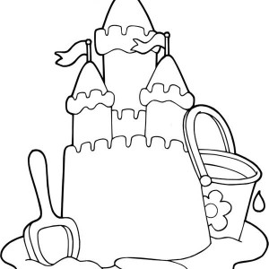 Sand Castle coloring #8, Download drawings