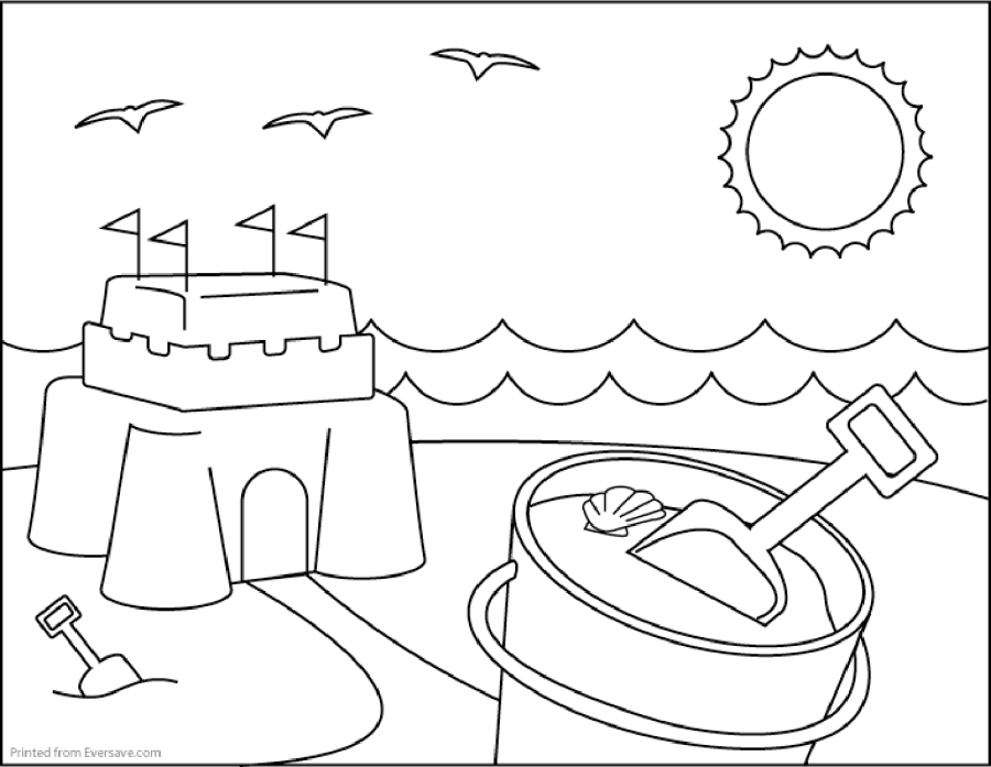 Sand Castle coloring #4, Download drawings