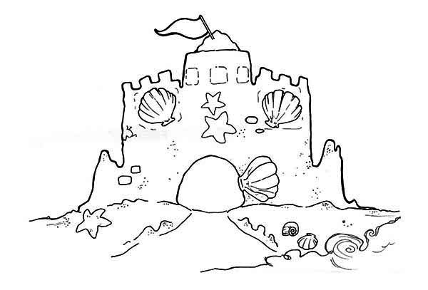Sandcastle coloring #2, Download drawings