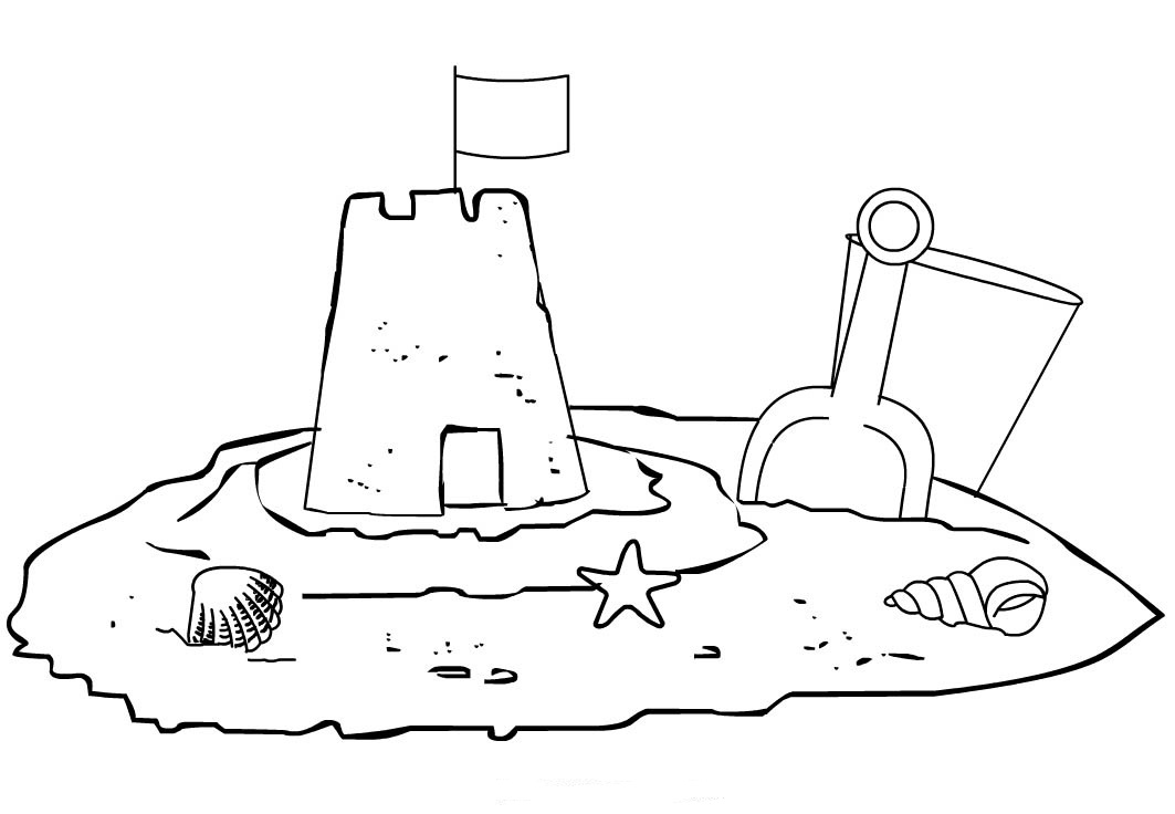 Sand Castle coloring #3, Download drawings