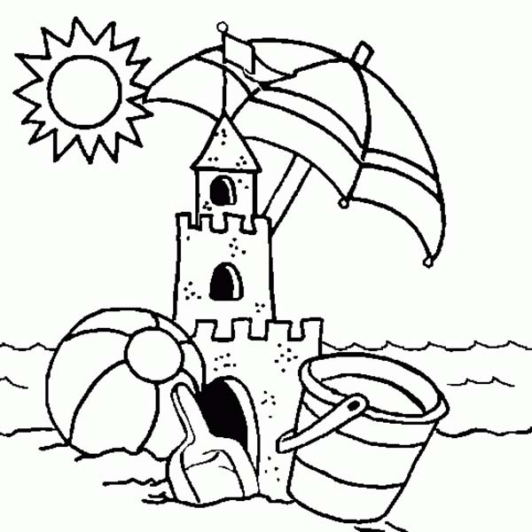 Sandcastle coloring #1, Download drawings