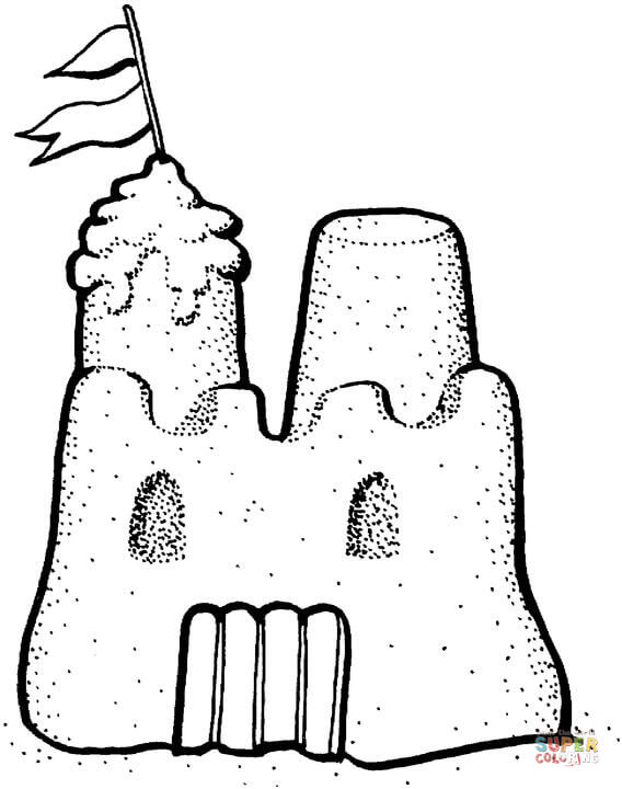 Sandcastle coloring #13, Download drawings