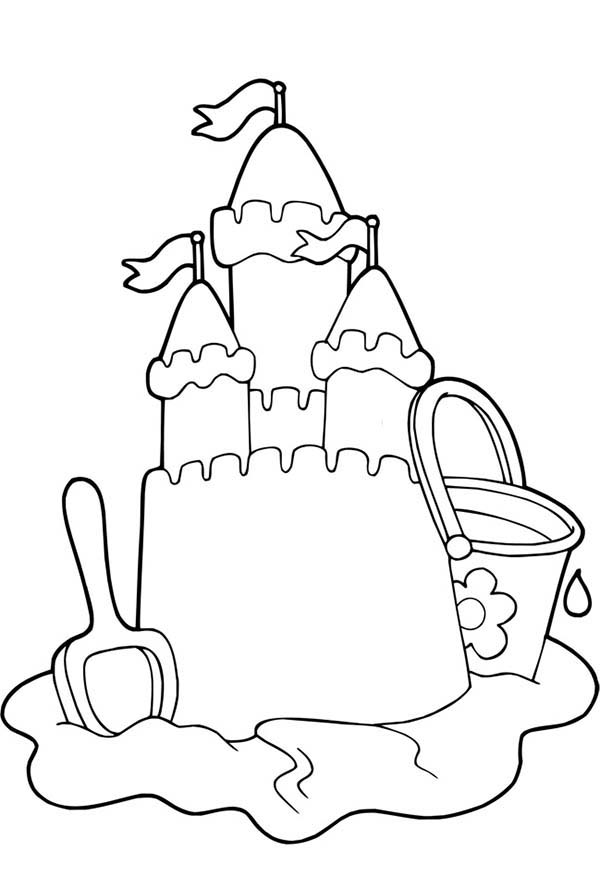 Sand Castle coloring #18, Download drawings