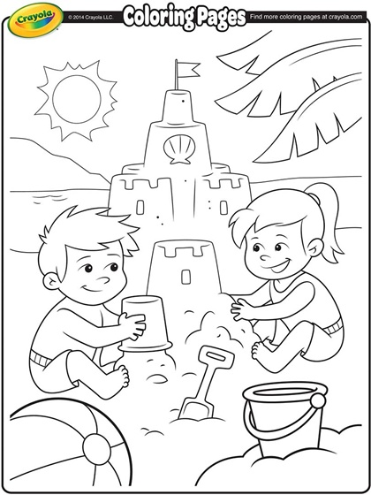 Sandcastle coloring #10, Download drawings