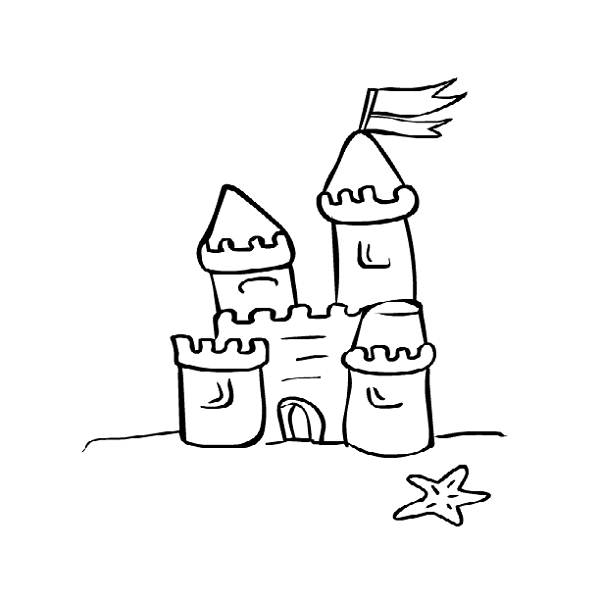 Sand Castle coloring #1, Download drawings