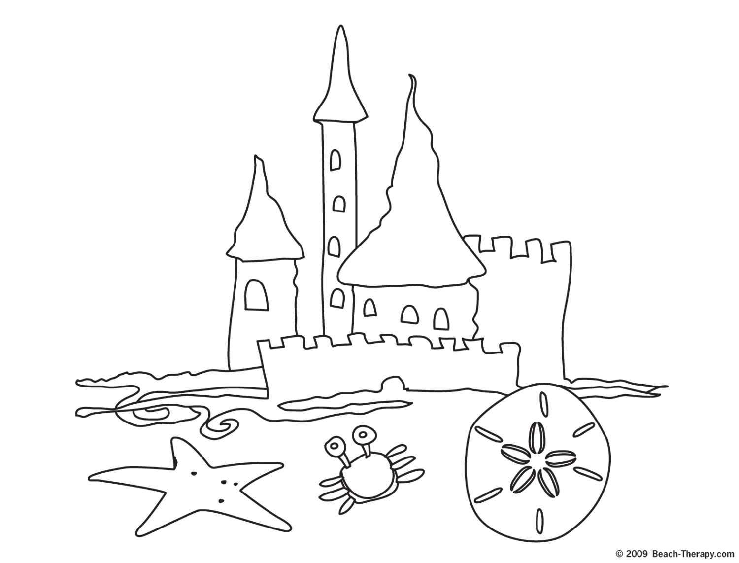 Sandcastle coloring #3, Download drawings