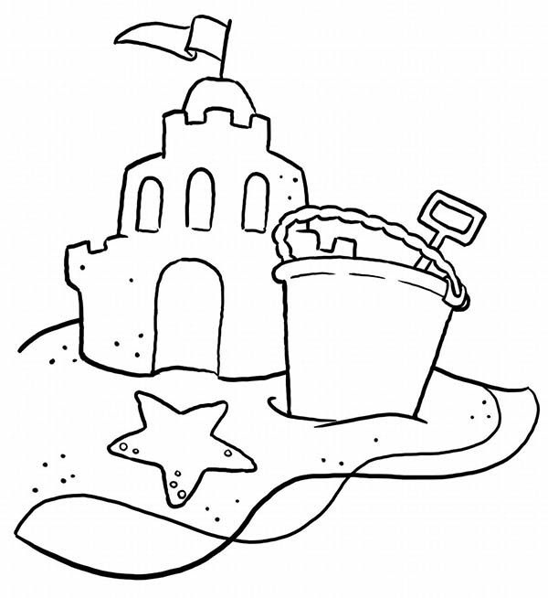 Sand Castle coloring #5, Download drawings