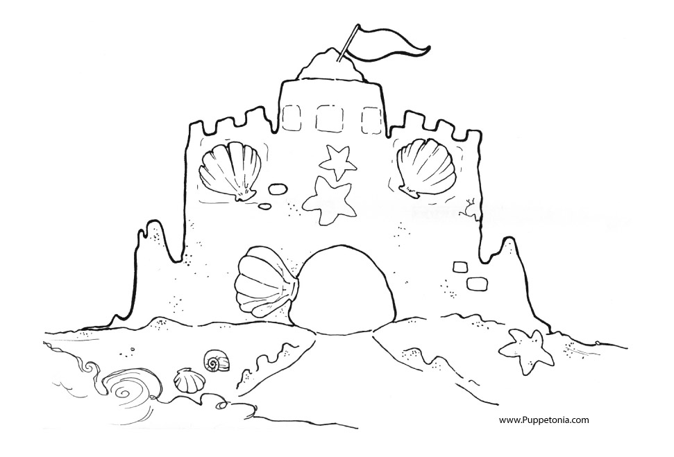 Sandcastle coloring #15, Download drawings