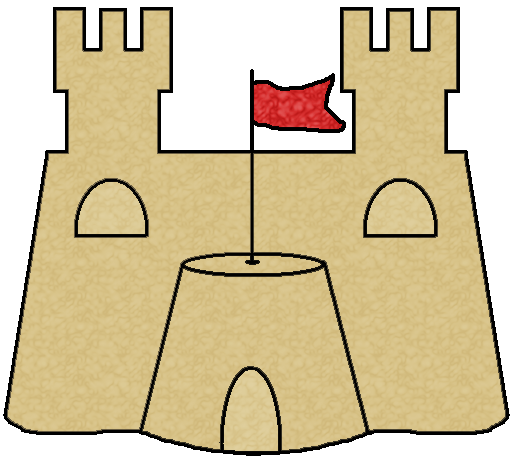 Sandcastle clipart #2, Download drawings