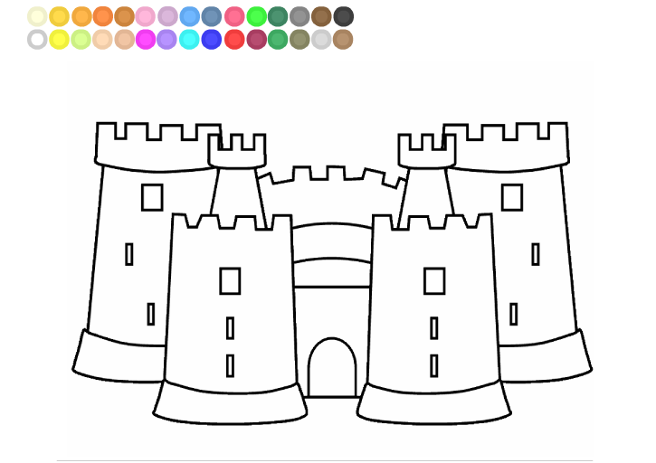 Sandcastle coloring #12, Download drawings