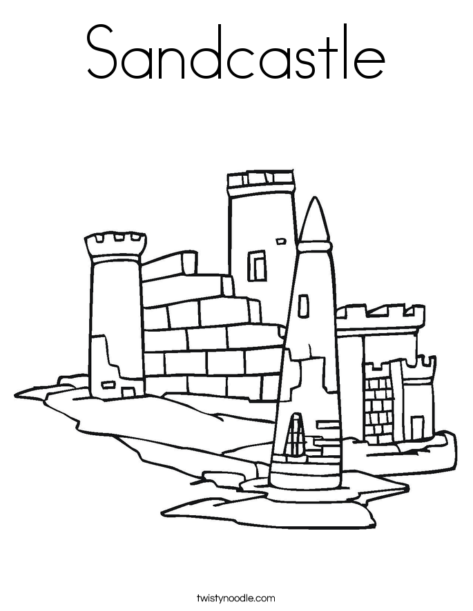 Sand Castle coloring #2, Download drawings