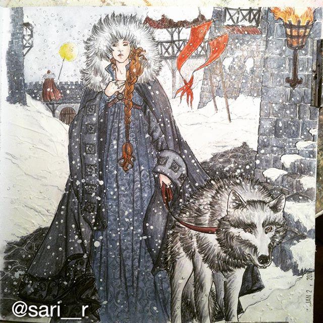 Sansa Stark coloring #3, Download drawings