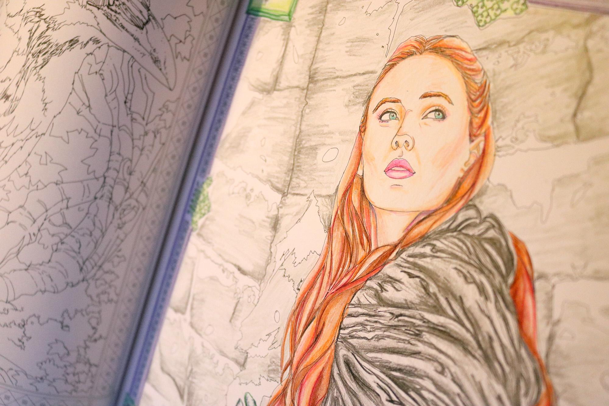 Sansa Stark coloring #6, Download drawings