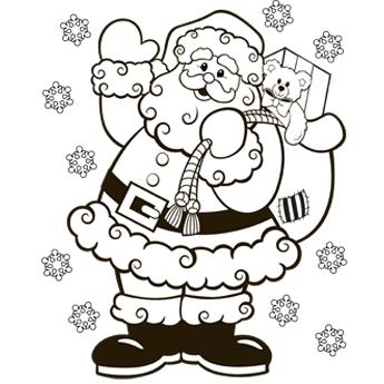 Santa coloring #19, Download drawings