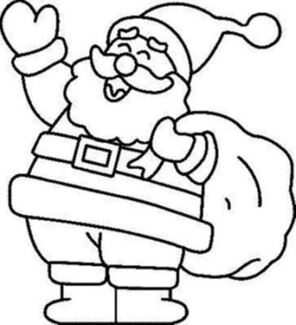 Santa coloring #6, Download drawings