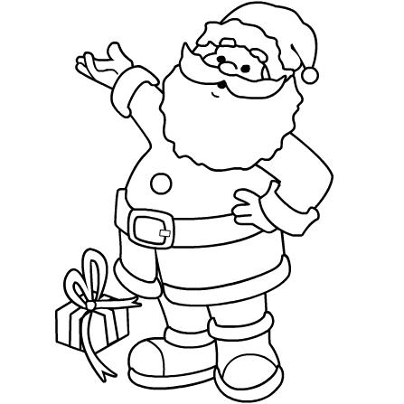 Santa coloring #14, Download drawings