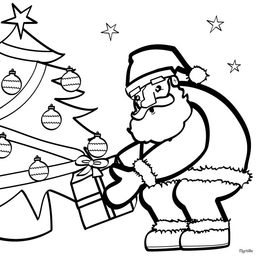 Santa coloring #1, Download drawings