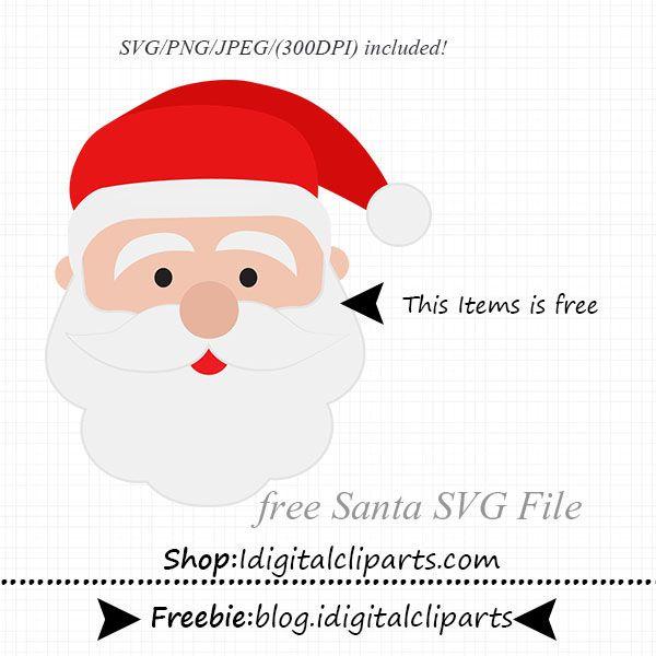 santa face svg #752, Download drawings