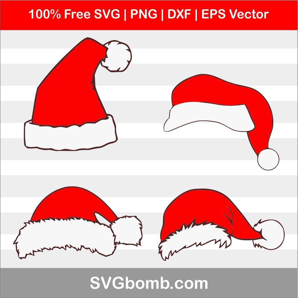 santa hat svg free #1208, Download drawings