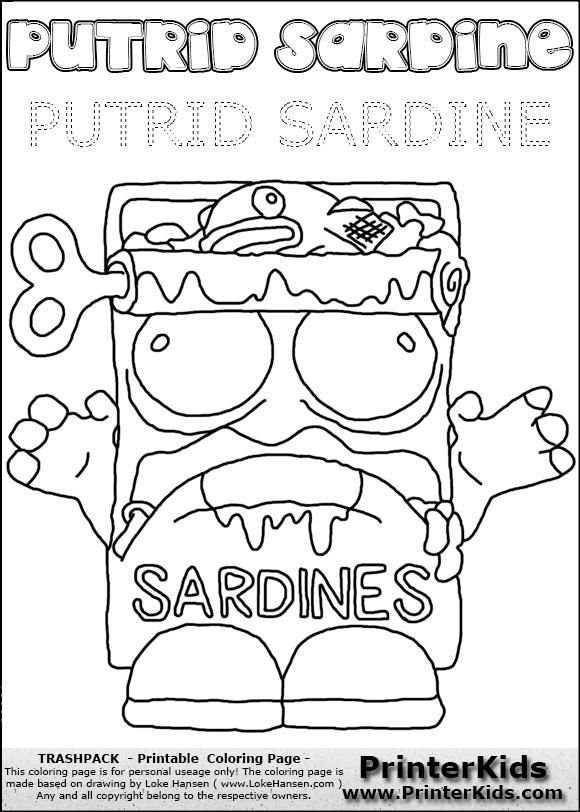 Sardine coloring #9, Download drawings