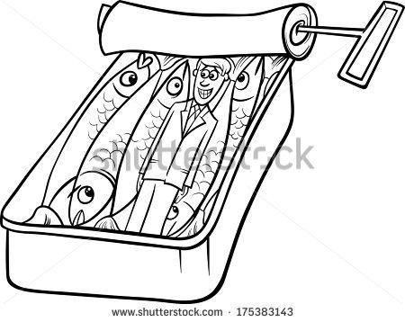 Sardine coloring #7, Download drawings