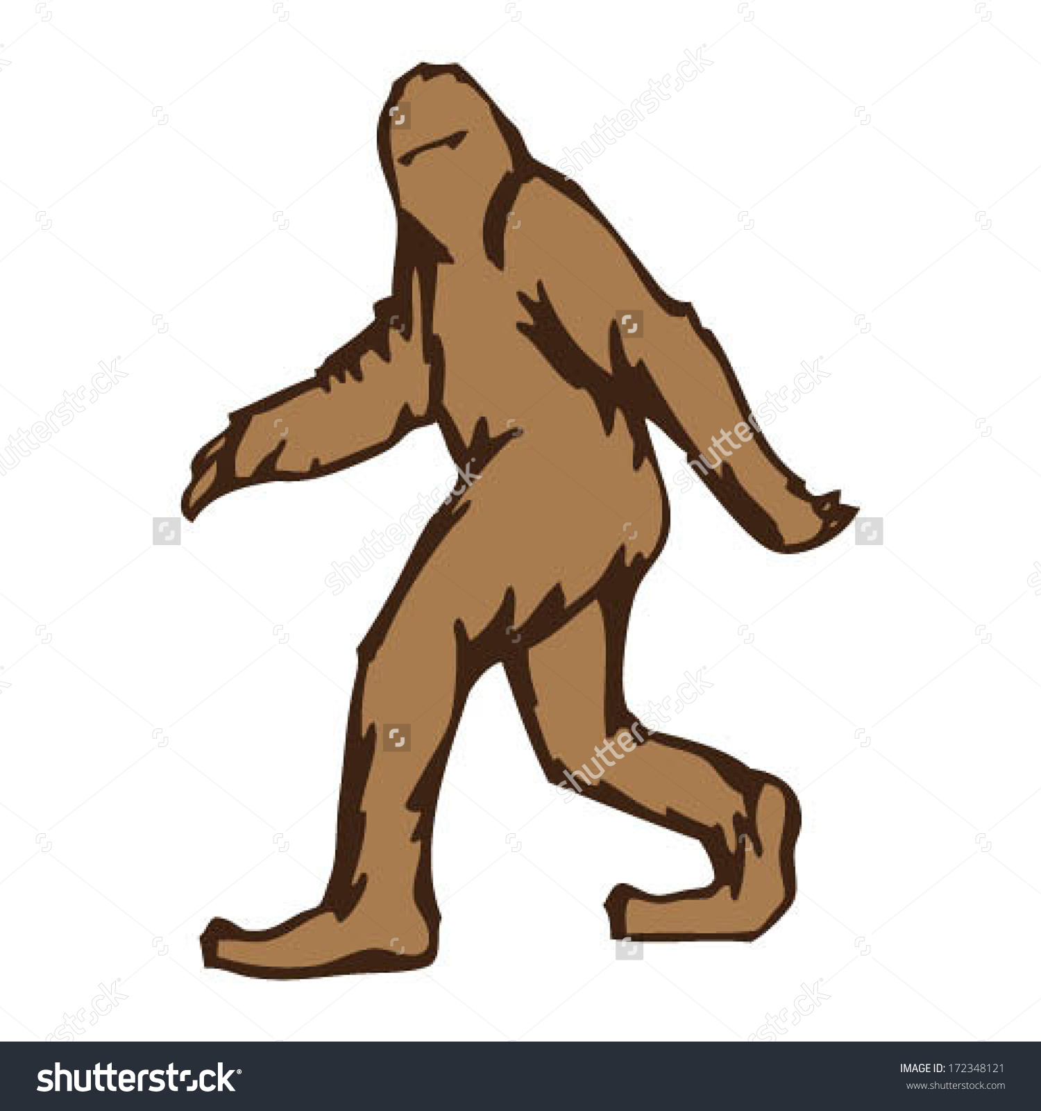 Sasquatch clipart #19, Download drawings
