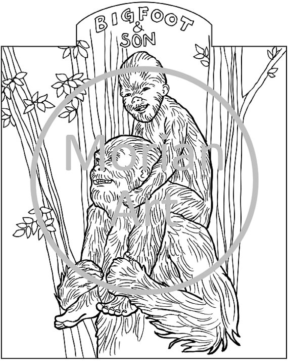 Sasquatch coloring #2, Download drawings