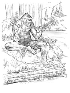 Sasquatch coloring #9, Download drawings